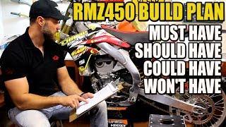 Help me to plan this dirt bike build! - RMZ 450 build part 1