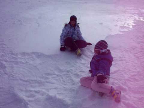 2009 Dec Ski trip Fielding Snow Angel.MOV