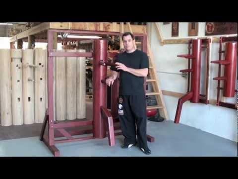 Freestanding Frame Mounted Wooden Dummy