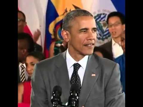 President Barack Obama in Jamaica speaking Patois