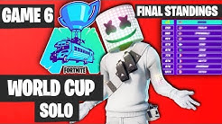 Fortnite World Cup SOLO Game 6 Highlights - FINAL STANDINGS [Fortnite World Cup Highlights]