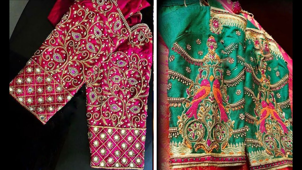 40f8315ec75009 Latest Embroidery Work Blouse Design For Silk Saree 2018 | Maggam Work | Party  Wear Blouse Designs