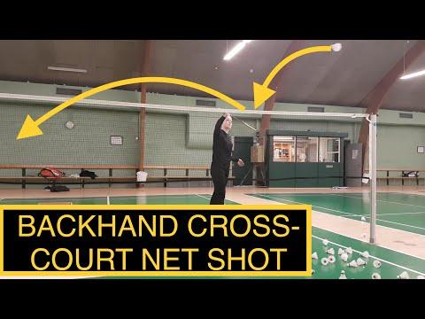 BADMINTON TECHNIQUE #26 - BACKHAND, CROSS-COURT NET SHOT