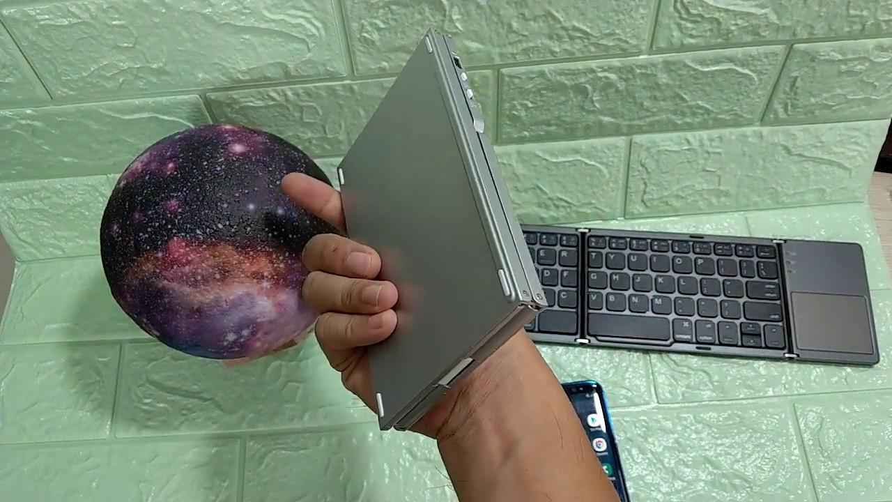 Bàn phím không dây Bluetooth siêu mỏng có touchpad