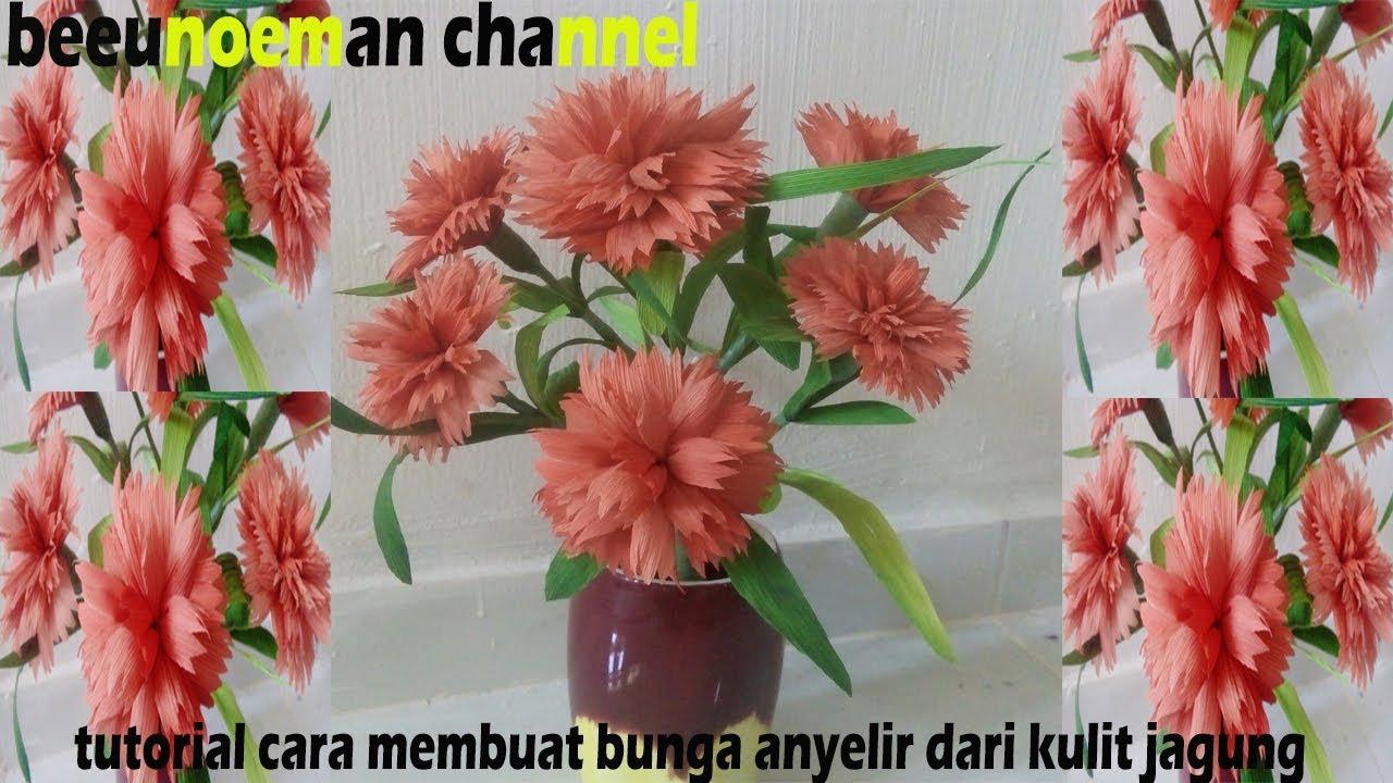 Tutorial cara membuat bunga anyelir dari kulit jagung ...