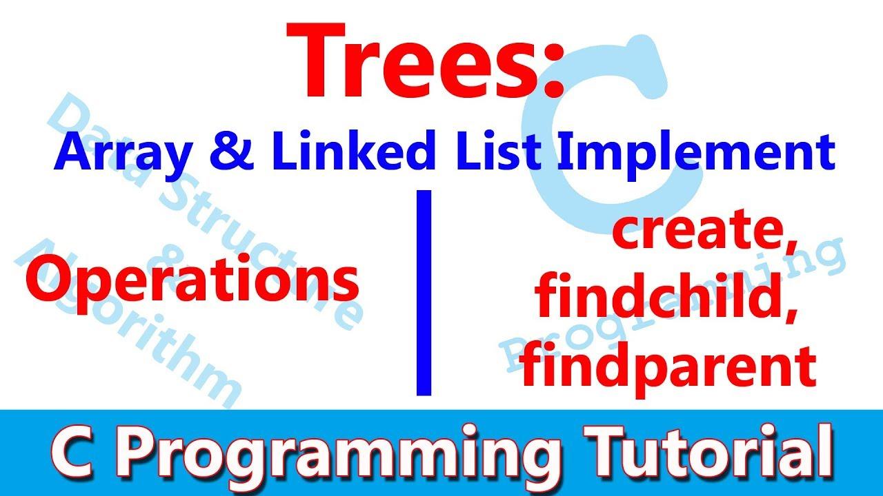 C programming tree data structure