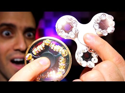 HOW TO MAKE A MILLION DOLLAR DIAMOND FIDGET SPINNER best diy bling out your spinners