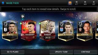 MY FIRST ULTIMATE FLASHBACK!!!! 5X MASK PACKS OPENING!! FIFA MOBILE ANDROID.
