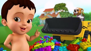 Playing with Building Blocks | Hindi Rhymes for Children | Infobells