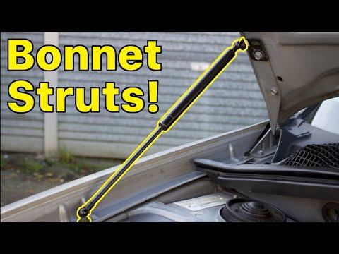 Subaru bonnet strut install