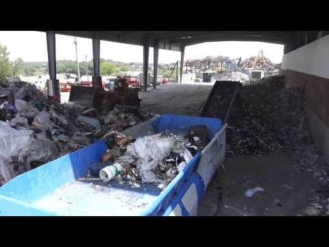 Lindner 95 DK Shredder C&D Mixed With MSW, Rail Road Ties, Proterra Recycling Systems