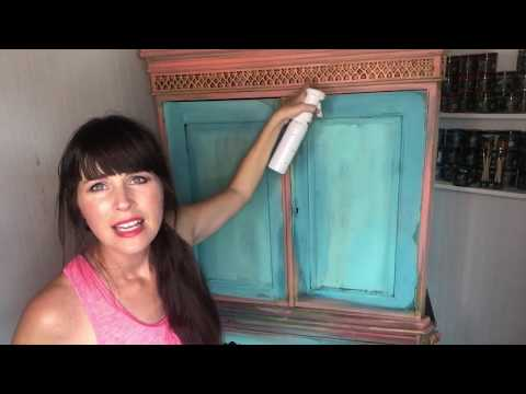 Flea Market Flip Wardrobe with DIY Paint - Cotton Candy Furniture Makeover Part 3
