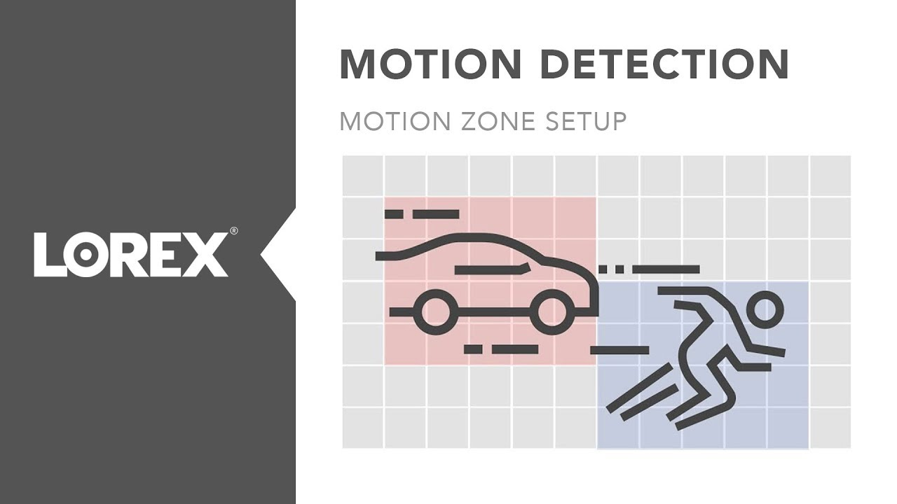 How to configure motion detection and setup motion zones