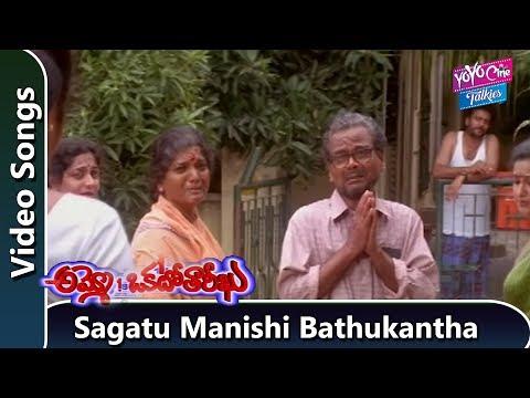Sagatu Manishi Bathukantha Video Song |  Ammo Okato Tariku Telugu Movie | YOYO Cine Talkies