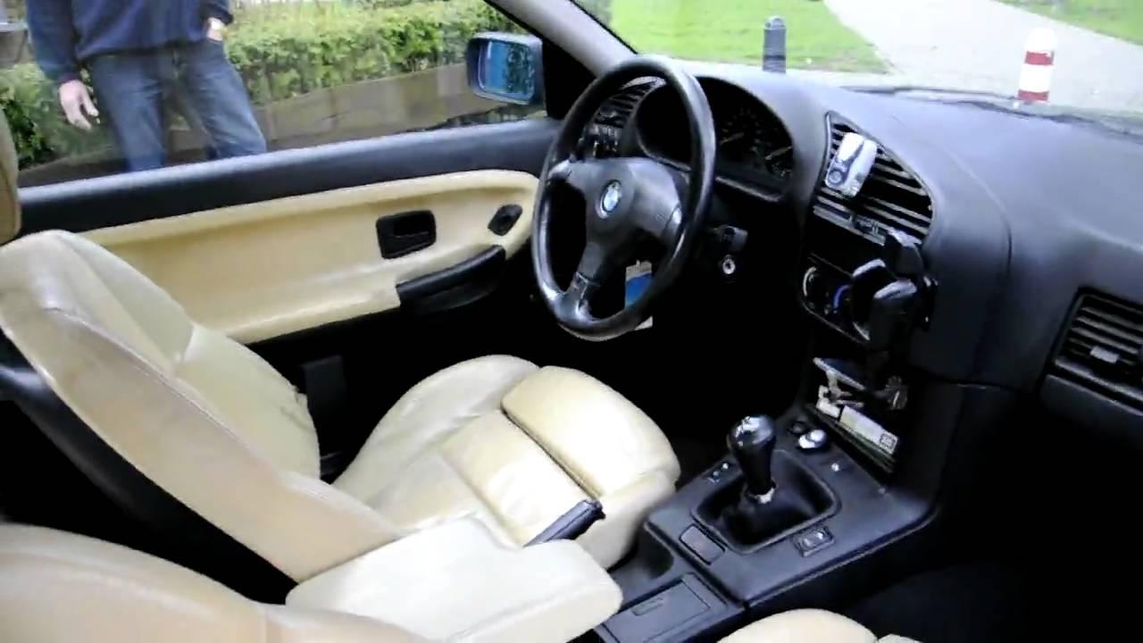 bmw 3 serie 1 6 i 316 coupe e2 1993 blauw en beige leer. Black Bedroom Furniture Sets. Home Design Ideas