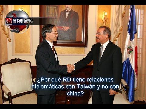 ¿Por qué RD tiene relaciones diplomáticas con Taiwán y no con china?
