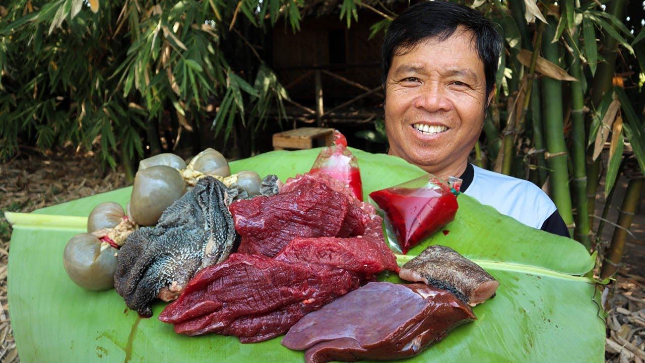 กินเนื้อดิบ ลาบเนื้อ สูตรครัวป่าไผ่ เนื้อดิบ ตับดิบ เครื่องในดิบ l ครัวป่าไผ่ SAN CE