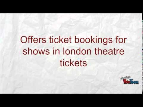 Offers ticket bookings for shows in london theatre tickets