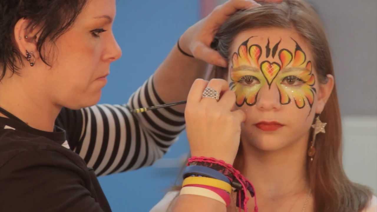 Zeer vlinder schminken.mp4 - YouTube #MP16