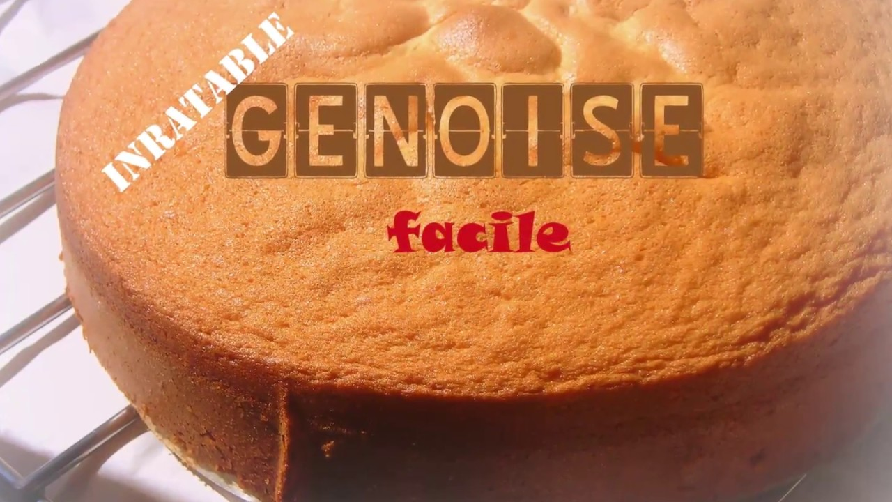 GENOISE INRATABLE ET FACILE YouTube