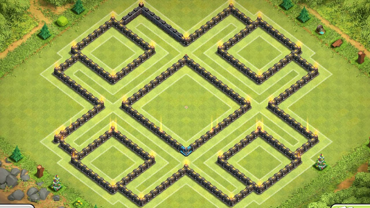 Base coc th9 trophy base best town hall 9 defence 2015 youtube