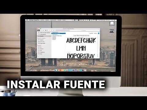 Cómo instalar tipos de letras (FUENTES) en Mac 💻
