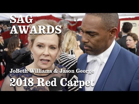 Jason George And JoBeth Williams On The SAG 2018 Red Carpet