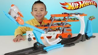 HOT WHEELS Rocket Launch Challenge 3 Stunts In 1 Fun With Ckn Toys