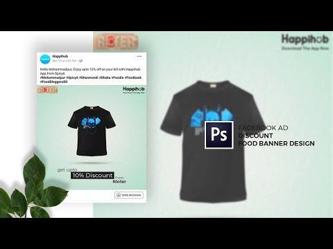 T-Shirt Facebook Ads Banner Design in Adobe Photoshop CC