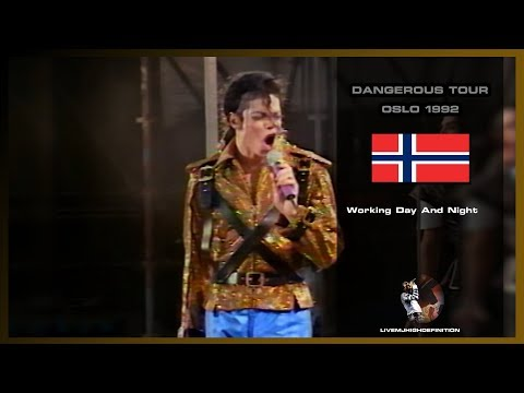 Michael Jackson - Working Day And Night - Live Oslo 1992 - HD