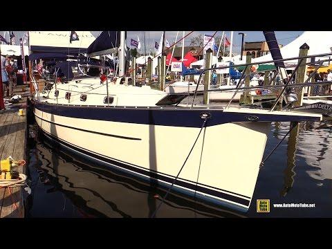2016 Seaward 32 RK Sailing Yacht - Deck and interior Walkaround - 2015 Annapolis Sail Boat Show