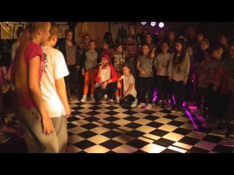 Finał Hip Hop Battle do lat 12 |Adrian, Białystok vs Oliwia, Czarna Biał.| Taneczny Finał Ferii 2015