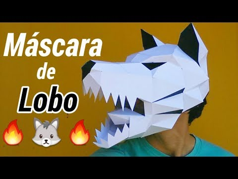 Como Hacer Una Mascara De Lobo Momuscraft Youtube