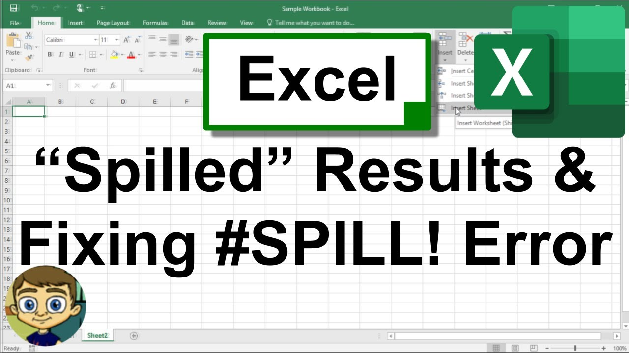 Excel Spilled Results and Fixing the SPILL! Error