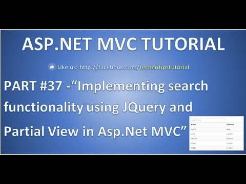 Search Record In Asp.net Mvc Using Jquery And Partial View - Part 37