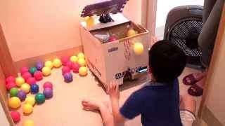 紙箱製作-垃圾筒投籃機 Cardboard pitching game