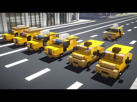 Minecraft NYC Taxi Cab Van SUV Tutorial
