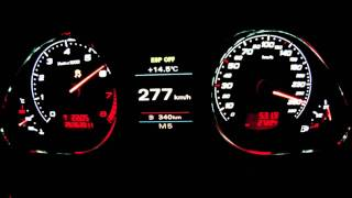 AUDI RS6 MTM 730PS 0-333 km/h BULGARIA