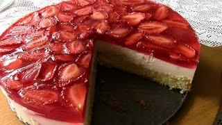 видео Рецепт бисквитного торта с желе и фруктами