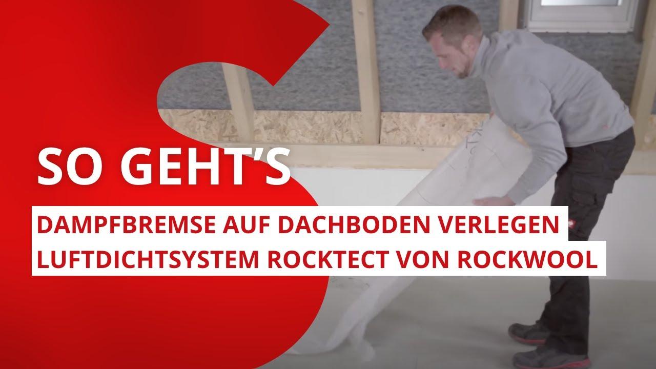 Favorit Dampfbremse auf Dachboden fachgerecht verlegen: Schritt für KQ03