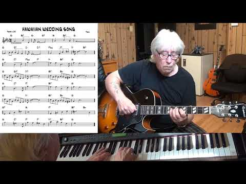 HAWAIIAN WEDDING SONG - Jazz guitar & piano cover ( Trad. )