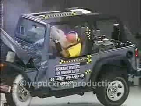 97 06 jeep wrangler crash test iihs youtube. Black Bedroom Furniture Sets. Home Design Ideas