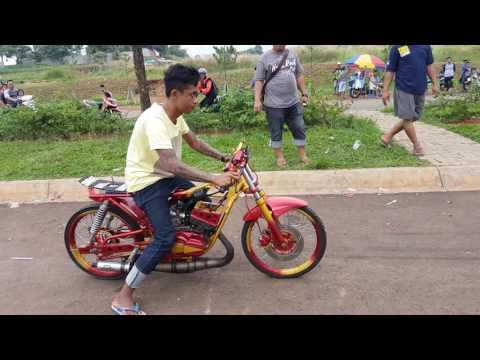 RX King Setting 201m Drag Bike. Mekanik : Sam Boy Tangerang. Joki : Yohanes Aditya Lambe