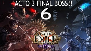 PATH OF EXILE EN ESPAÑOL | LEGION HARDCORE | FINAL ACTO 3 - BOSS y mi nueva build CICLÓN OP!!!