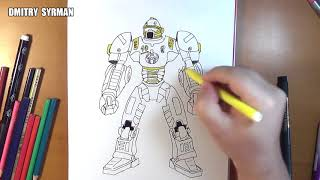 Speed drawing robot Tackle, Real Steel