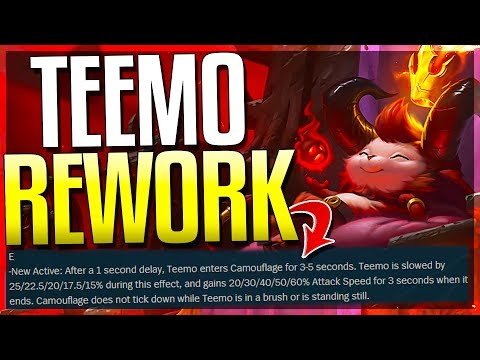 *NEW* TEEMO REWORK HAS BEEN REVEALED!! New Abilities - League of Legends thumbnail