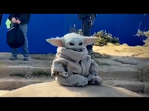 Baby Yoda Dances on Set