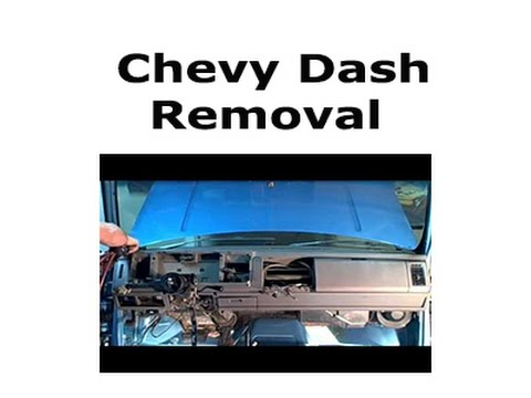 1993 Chevy Dash Removal How To Doovi