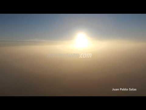 Una intensa niebla cubrió toda la región del Alto Valle