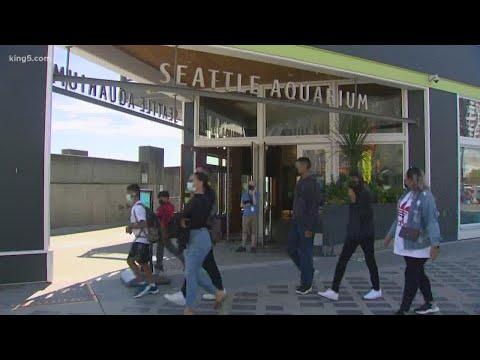 Seattle Waterfront encouraging people to visit as shops reop